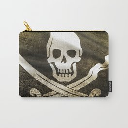 Pirate Skull in Cross Swords Carry-All Pouch