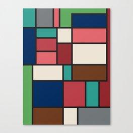 The Colors of / Mondrian Series - Spirited Away - Miyazaki Canvas Print