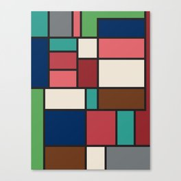 The Colors of / Mondrian Series - Spirited Away - Miyazaki Canvas Print