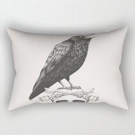 Black Crow & Skull Rectangular Pillow