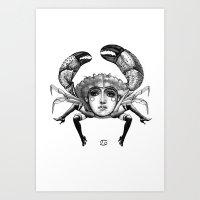 cancer Art Prints featuring Cancer by Carolina Espinosa