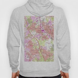 Vintage Map of Rockville Maryland (1965) Hoody