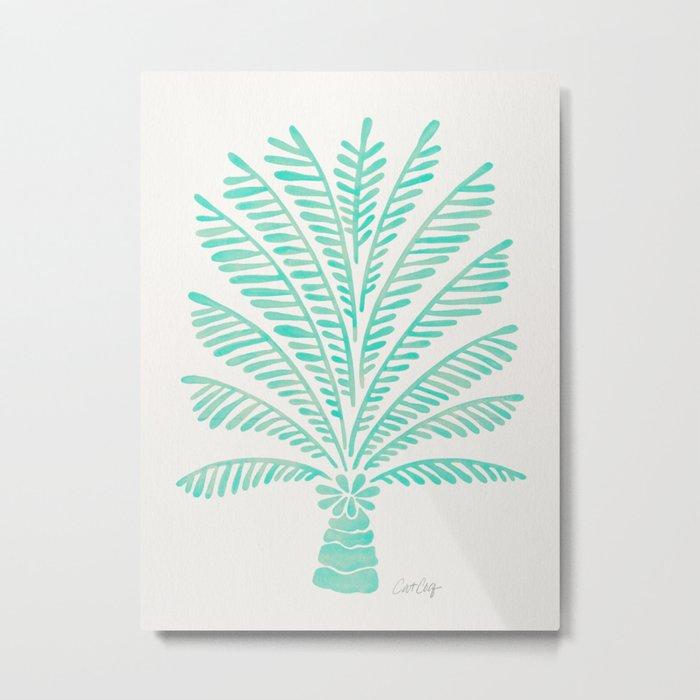 Palm Tree – Mint Palette Metal Print
