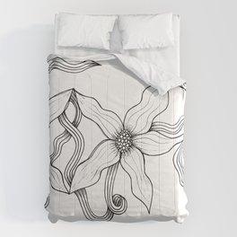 Huia Art Clematis Ribbon Comforters