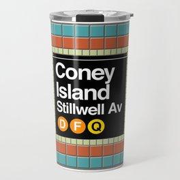 subway coney island sign Travel Mug