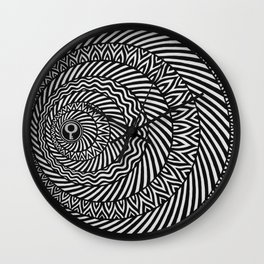 Kinetic Black and White Mandala Wall Clock