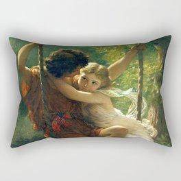 "Pierre Auguste Cot ""Springtime"" Rectangular Pillow"