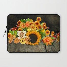 Fall Flowers on a Farm Table Laptop Sleeve