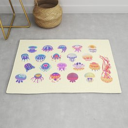 Jellyfish Day - pastel Rug
