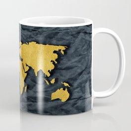Metallic Gold Leaf Map on paper Coffee Mug