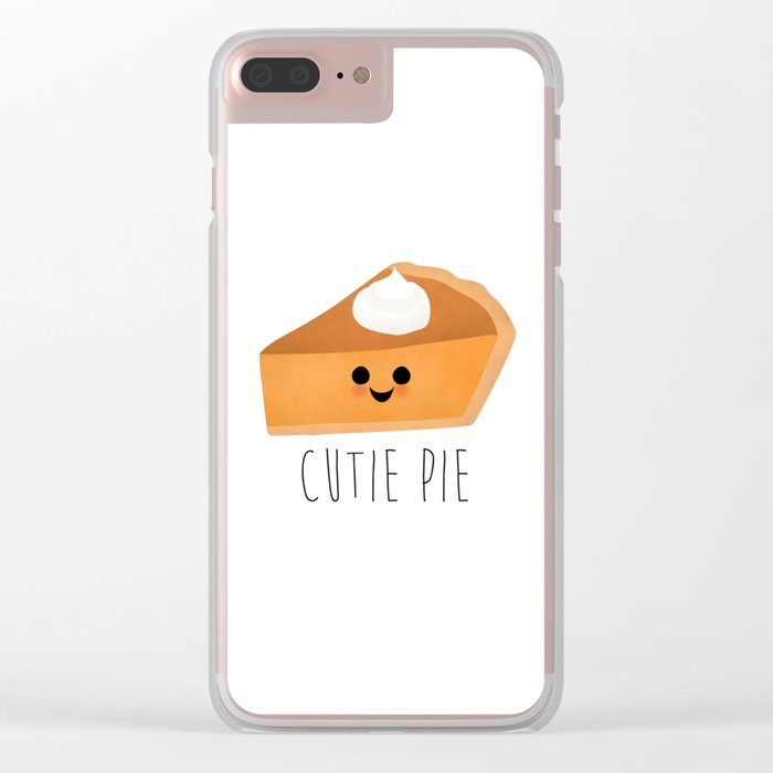 Cutie Pie Clear iPhone Case