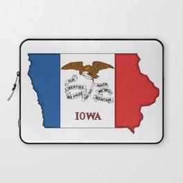 Iowa Map with Iowan Flag Laptop Sleeve