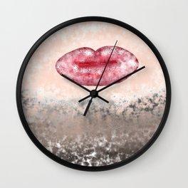Lips frozen in time Wall Clock