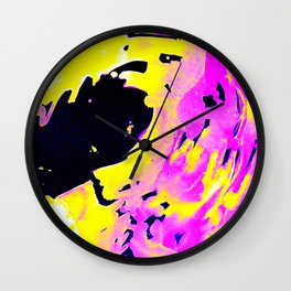 If Girls had their way with waves, Pink Minimal Water Wall Clock