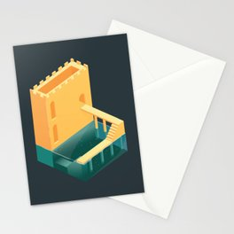 Logged Castle Stationery Cards
