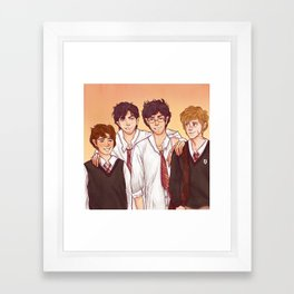 Moony, Wormtail, Padfoot and Prongs Framed Art Print