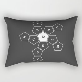 Grey Unrolled D12 Rectangular Pillow