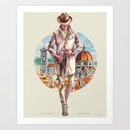 Luciano Barbera x Sunflowerman, Pitti 92 Art Print