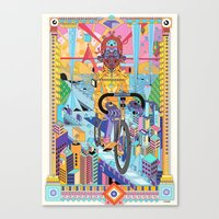 bicycle Canvas Prints featuring bicycle by yoaz
