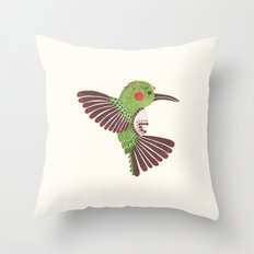 The Green Hummingbird Throw Pillow