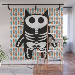 Meow Skeleton Wall Mural