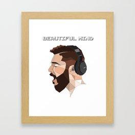 beautiful mind Framed Art Print