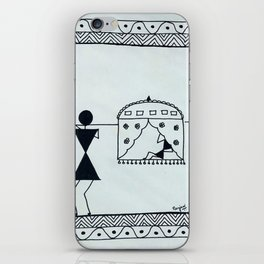 Warli Painting iPhone Skin