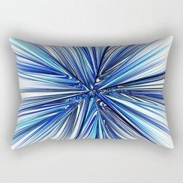 Symmetrical fractal abstract light rays effect neon art Rectangular Pillow