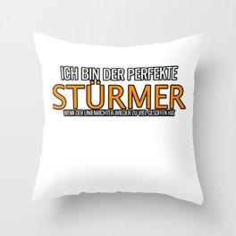 Forward Linesman Drinking Striker Throw Pillow