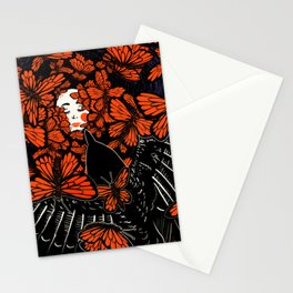Dreaming — Crow and Monarch Butterflies Stationery Cards