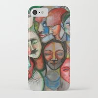 it crowd iPhone & iPod Cases featuring crowd by Elina Larsson