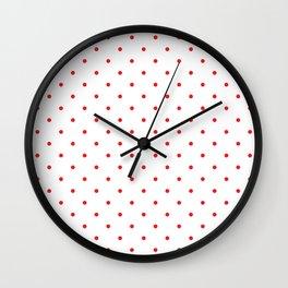 Small Red Polka Dots Wall Clock