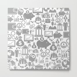 Business a background7 Metal Print