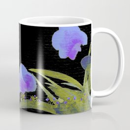Atom Flowers #34 in purple and green Coffee Mug