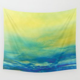YELLOW & BLUE TOUCHING #1 #abstract #art #society6 Wall Tapestry