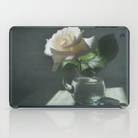 lost in translation iPad Cases featuring White Rose Translation by DebS Digs Photo Art