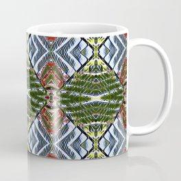 Royal Poinciana Fronds Diamond OP Pattern Coffee Mug