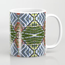Royal Poinciana Fronds Diamond OP Pattern Coffee Mug