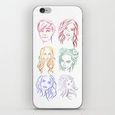 Rainbow Minimal Portraits iPhone & iPod Skin