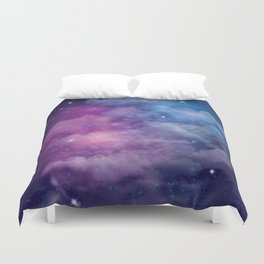 Pink and Blue Nebula Duvet Cover