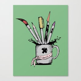 Ink cup Canvas Print