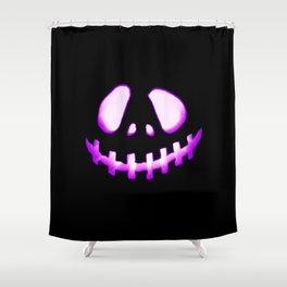 halloween. Jack O Lantern Purple Shower Curtain
