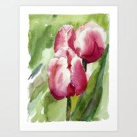 Garden Tulips Art Print