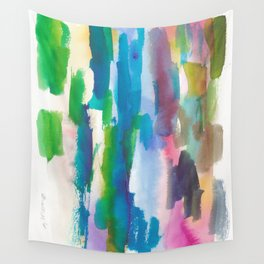 180812 Abstract Watercolour Expressionism 7  Colorful Abstract   Modern Watercolor Art Wall Tapestry
