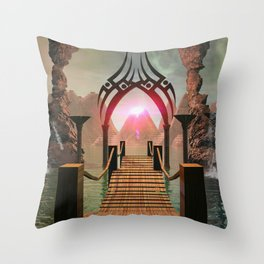 The bridge to the Temple of Light Throw Pillow