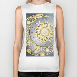 Golden Moon and Sun Biker Tank