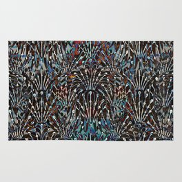Abstract Spiked Floral Pattern Rug