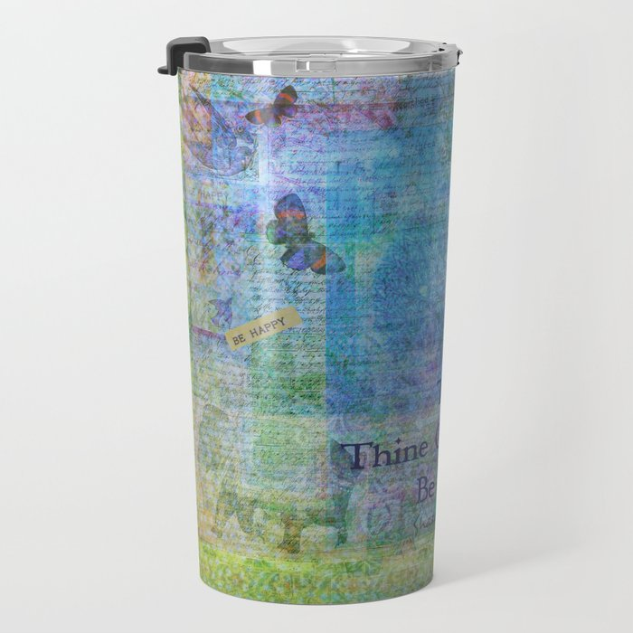 To Thine Own Self Be True Shakespeare Quote Travel Mug