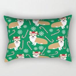 Corgi christmas welsh holiday gift for dog breed dog person corgi lovers christmas gifts Rectangular Pillow