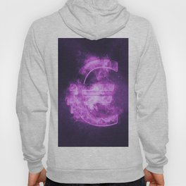 Euro sign, Euro Symbol. Monetary currency symbol. Abstract night sky background. Hoody